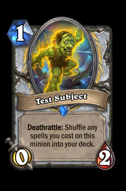 Test Subject Hearthstone kártya