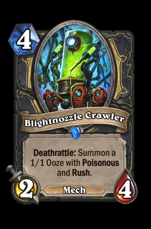 Blightnozzle Crawler Hearthstone kártya