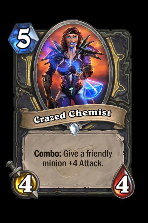 Crazed Chemist Hearthstone kártya
