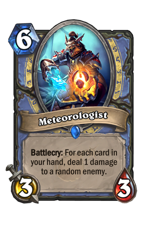 Meteorologist Hearthstone kártya