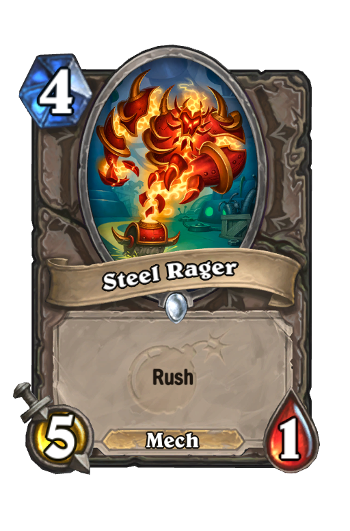 Steel Rager Hearthstone kártya