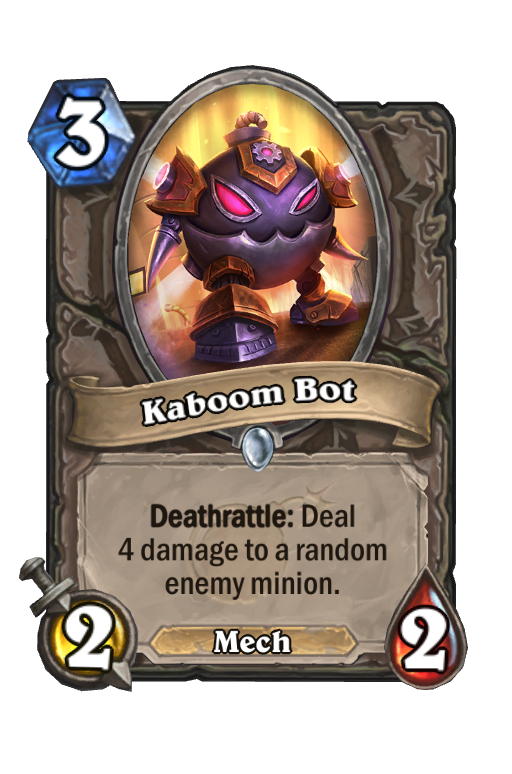 Kaboom Bot Hearthstone kártya