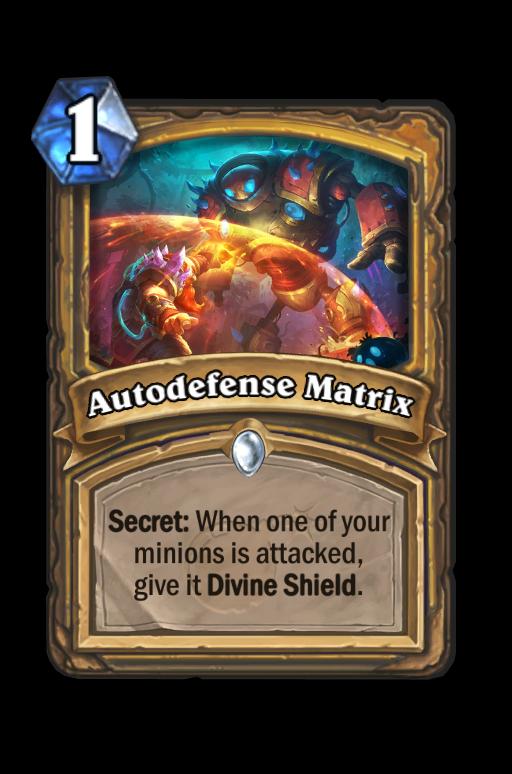 Autodefense Matrix Hearthstone kártya