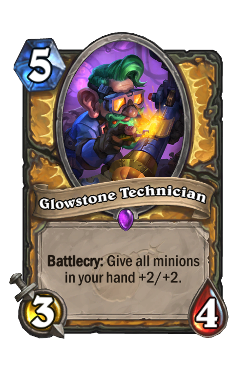 Glowstone Technician Hearthstone kártya