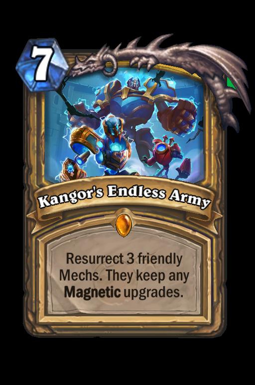 Kangor's Endless Army Hearthstone kártya