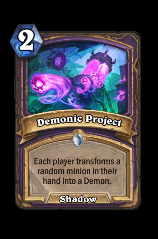 Demonic Project Hearthstone kártya