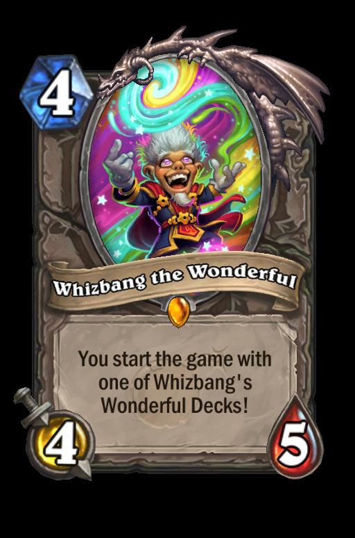 Whizbang the Wonderful Hearthstone kártya