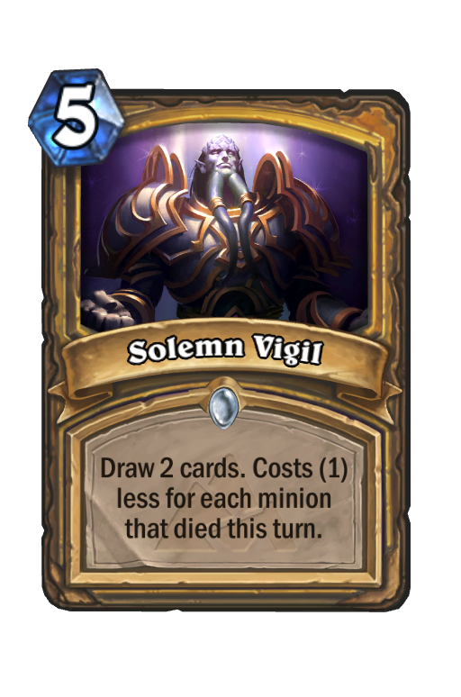 Solemn Vigil Hearthstone kártya
