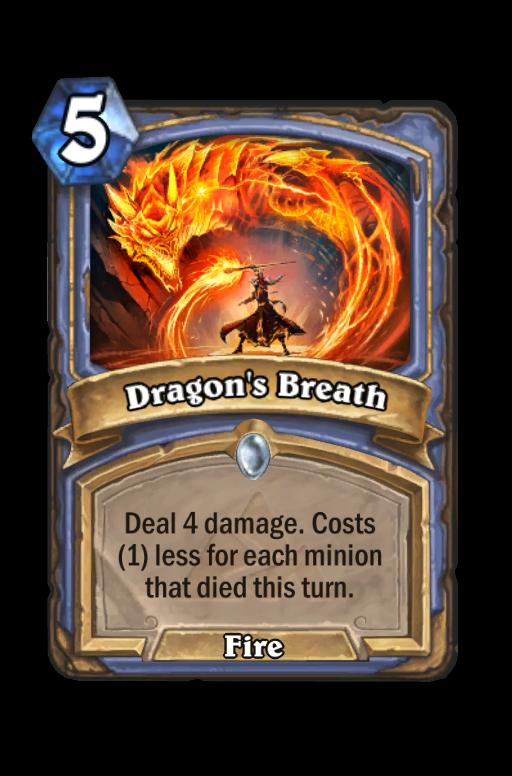 Dragon's Breath Hearthstone kártya