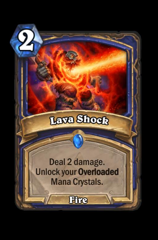 Lava Shock Hearthstone kártya
