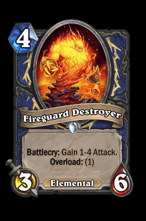 Fireguard Destroyer Hearthstone kártya