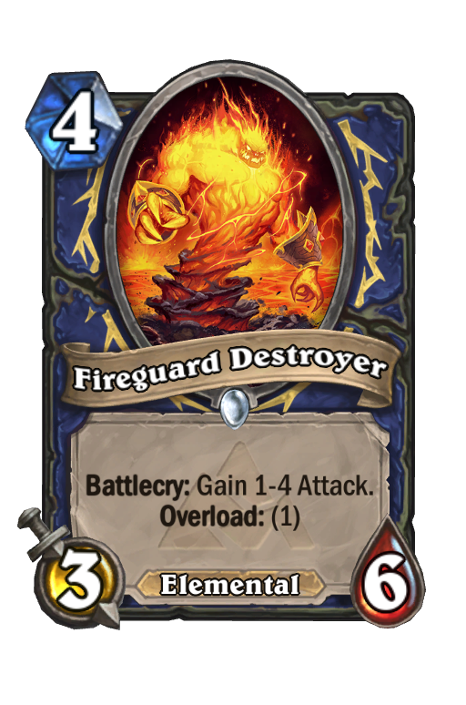 Fireguard Destroyer Hearthstone kártya