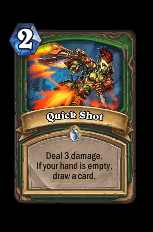 Quick Shot Hearthstone kártya