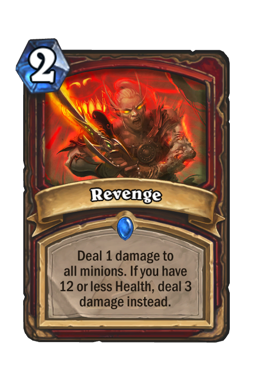 Revenge Hearthstone kártya