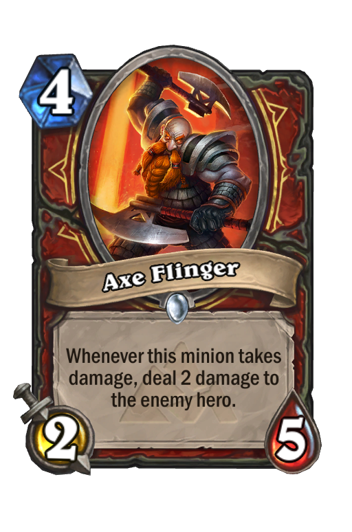 Axe Flinger Hearthstone kártya