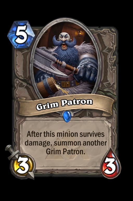 Grim Patron Hearthstone kártya