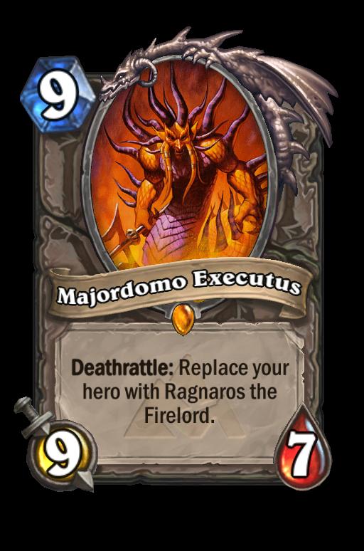 Majordomo Executus Hearthstone kártya