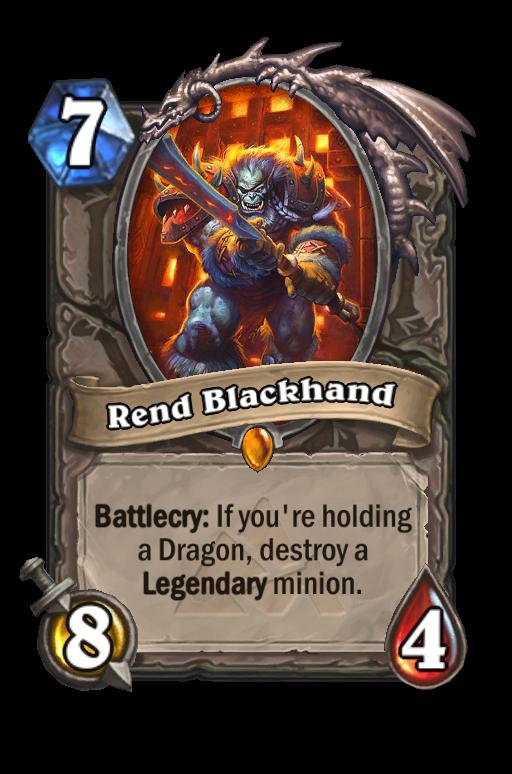 Rend Blackhand Hearthstone kártya
