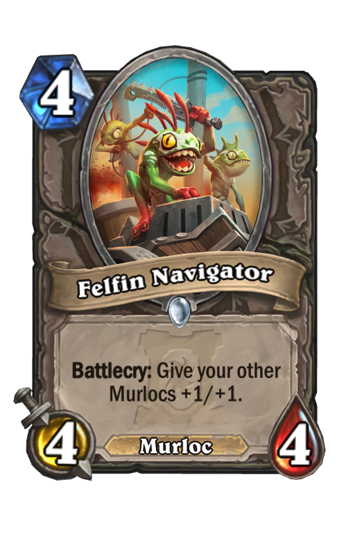 Felfin Navigator Hearthstone kártya