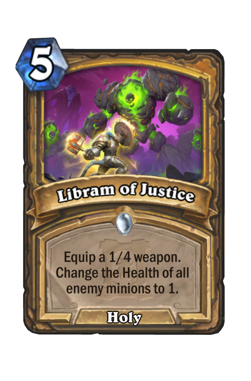 Libram of Justice Hearthstone kártya