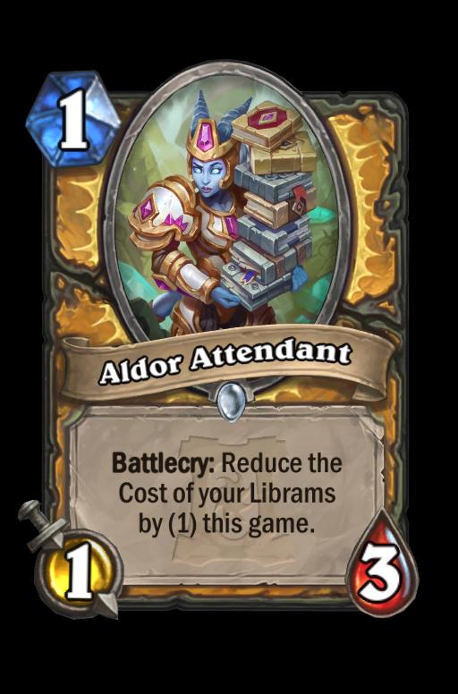 Aldor Attendant Hearthstone kártya