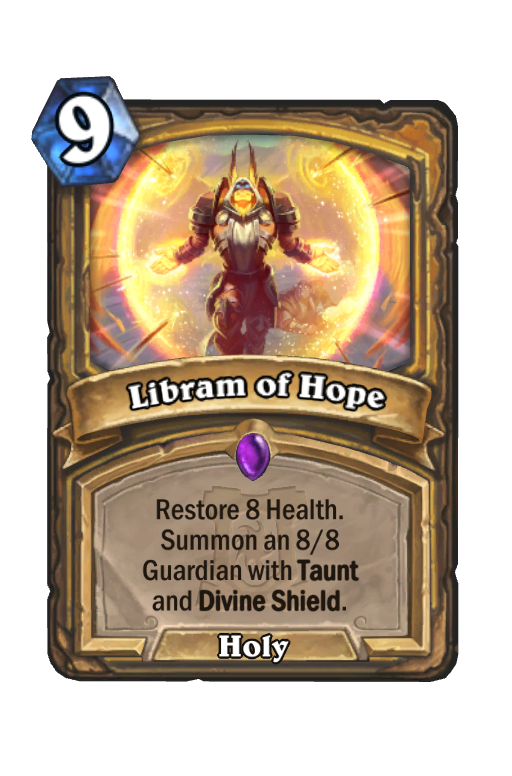 Libram of Hope Hearthstone kártya