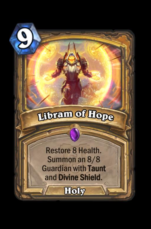 Libram of Hope Hearthstone kártya