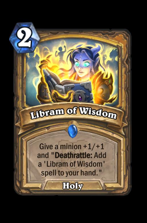 Libram of Wisdom Hearthstone kártya