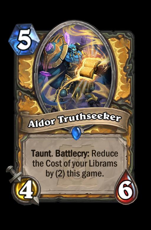 Aldor Truthseeker Hearthstone kártya
