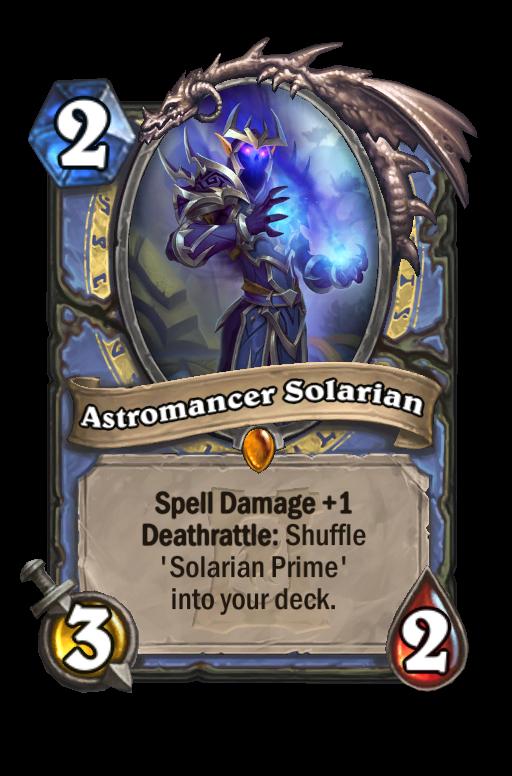 Astromancer Solarian Hearthstone kártya