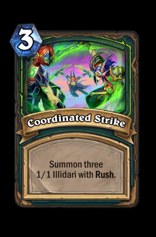 Coordinated Strike Hearthstone kártya