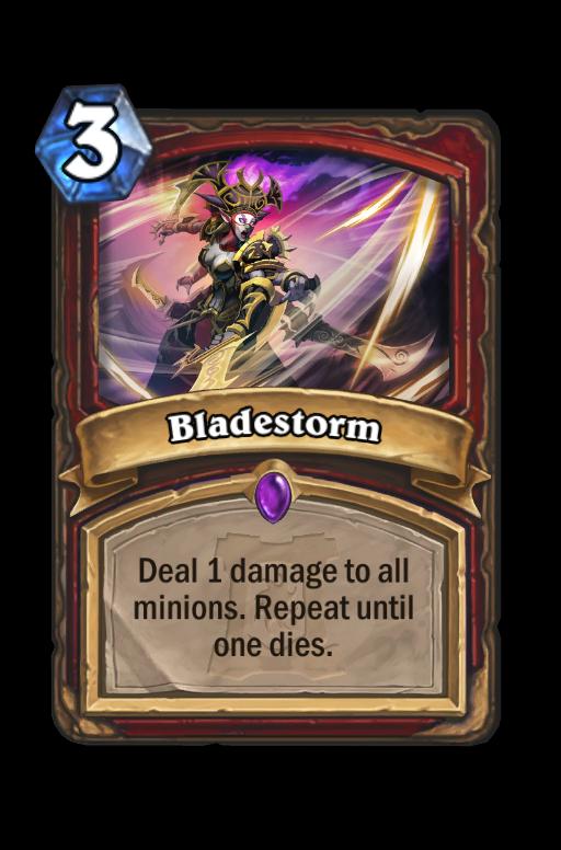Bladestorm Hearthstone kártya
