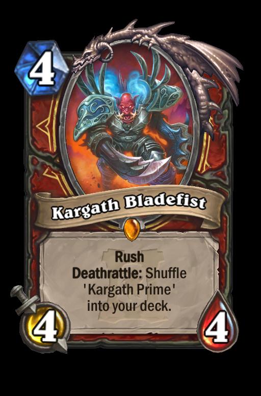 Kargath Bladefist Hearthstone kártya