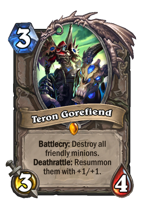 Teron Gorefiend Hearthstone kártya
