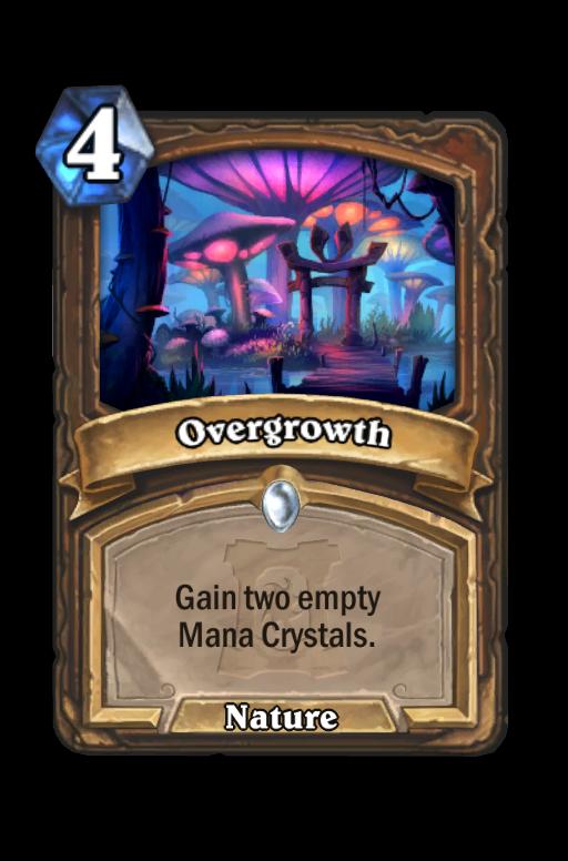 Overgrowth Hearthstone kártya
