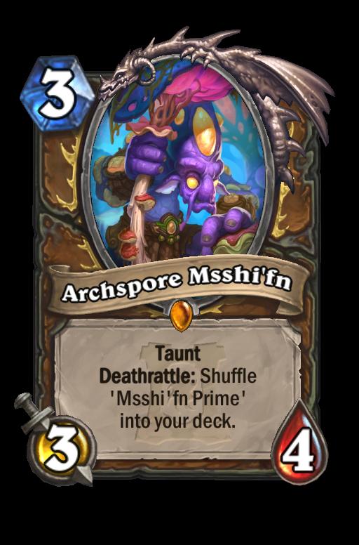 Archspore Msshi'fn Hearthstone kártya