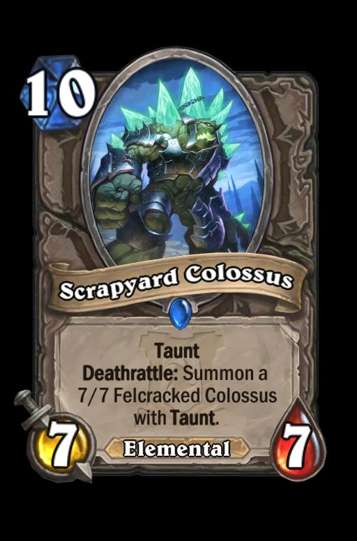 Scrapyard Colossus Hearthstone kártya