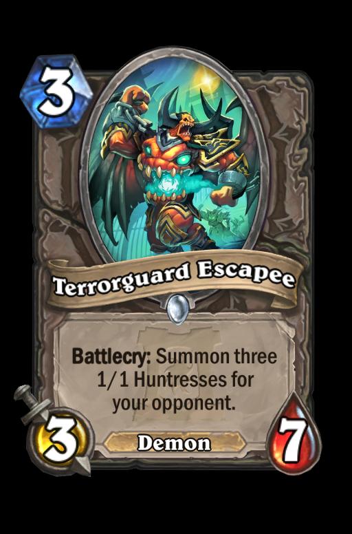 Terrorguard Escapee Hearthstone kártya
