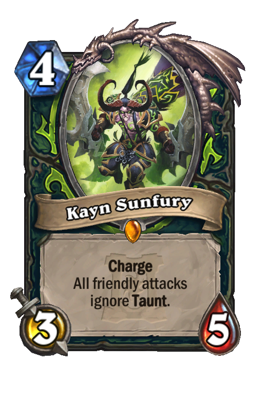 Kayn Sunfury Hearthstone kártya