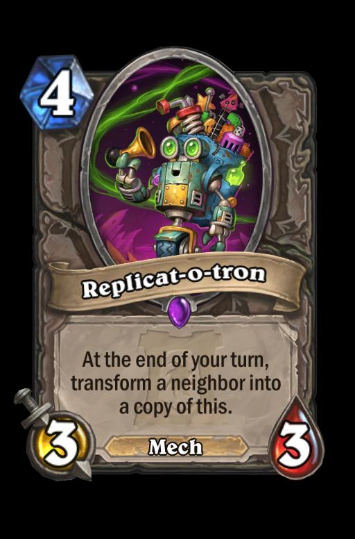 Replicat-o-tron Hearthstone kártya