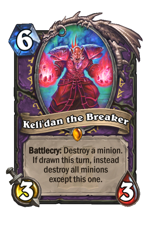 Keli'dan the Breaker Hearthstone kártya