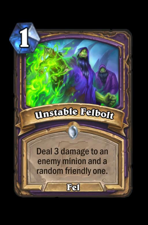 Unstable Felbolt Hearthstone kártya