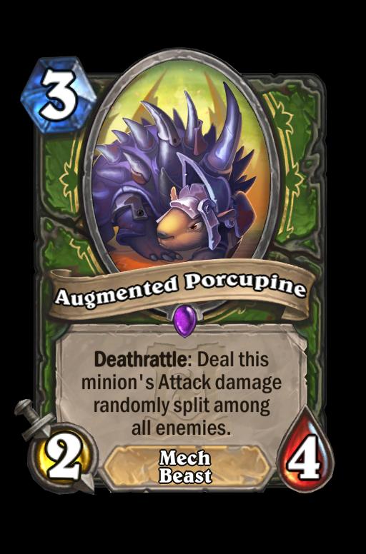 Augmented Porcupine Hearthstone kártya