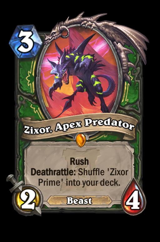 Zixor, Apex Predator Hearthstone kártya