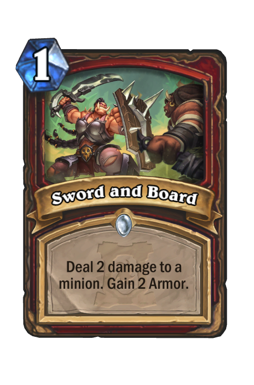 Sword and Board Hearthstone kártya