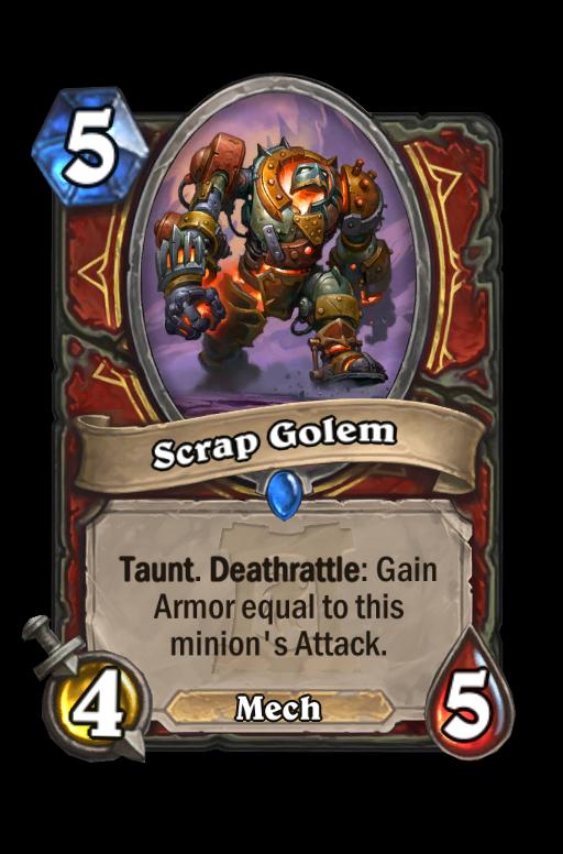 Scrap Golem Hearthstone kártya