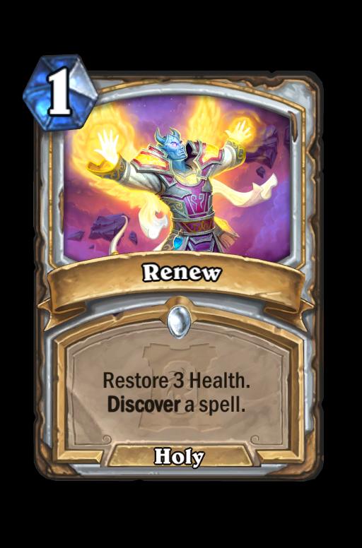 Renew Hearthstone kártya