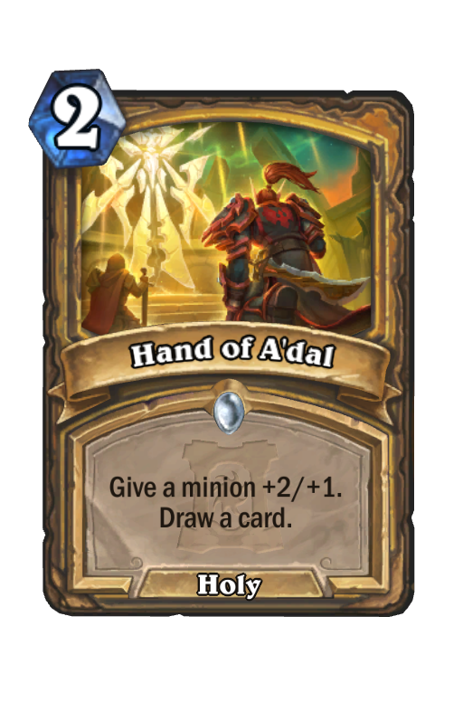 Hand of A'dal Hearthstone kártya