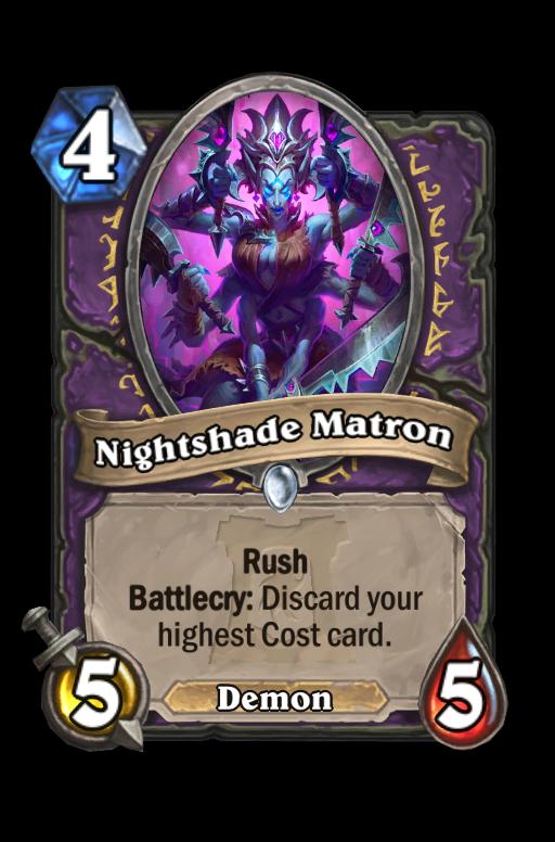 Nightshade Matron Hearthstone kártya