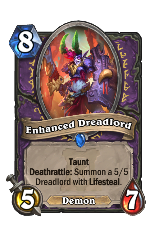 Enhanced Dreadlord Hearthstone kártya